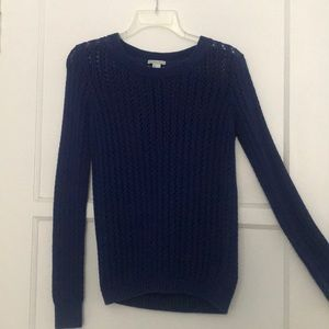 Royal blue knit sweater!